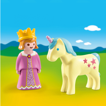Playmobil 1.2.3: Hercegnő egyszarvúval 70127 - . kép