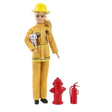 Barbie: Deluxe karrier játékszett - tűzoltó
