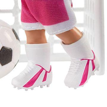 Barbie: Sportos játékszett - szőke hajú fociedző Barbie - . kép