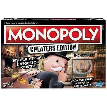 Monopoly Szélhámosok - román nyelvű társasjáték - CSOMAGOLÁSSÉRÜLT