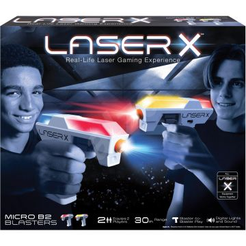 Laser X: Mikroblaster fegyver szett - CSOMAGOLÁSSÉRÜLT