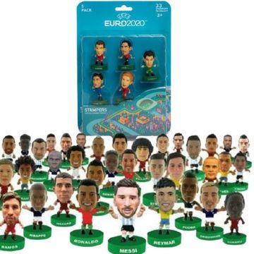 EURO 2020: fotbaliști celebri - pachet de 5 ștampile surpriză