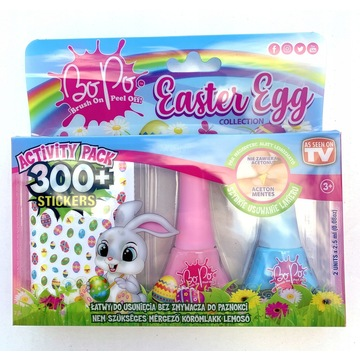 Bo-Po: 2 darabos körömlakk szett húsvéti matricával - többféle