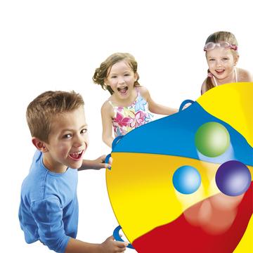 Kooperációs ejtőernyő, 24 db színes labdával - . kép