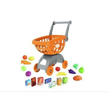 Bevásárlókocsi élelmiszerekkel - narancssárga