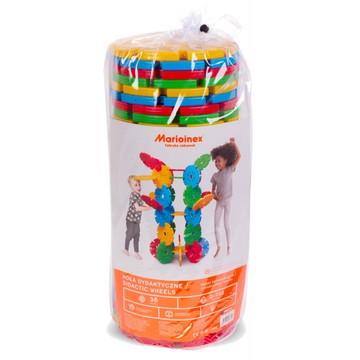 Roți uriașe - jucărie de construcție din plastic, 36 buc