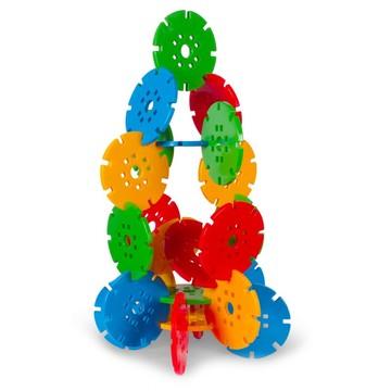 Roți uriașe - jucărie de construcție din plastic, 36 buc - .foto