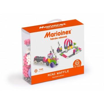 Mini gofri műanyag építőjátékszett lányoknak, 140 db-os - járművek