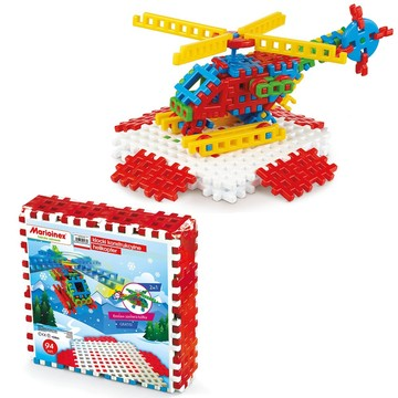 Vafe mini - jucărie de construcție din plastic, elicopter