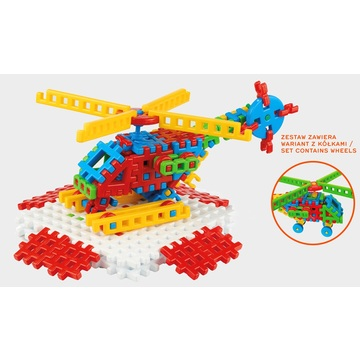 Vafe mini - jucărie de construcție din plastic, elicopter - .foto