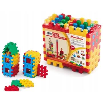 Vafe medii - jucărie de construcție din plastic, 24 piese - .foto