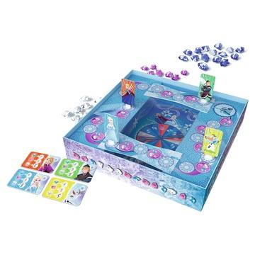 Jégvarázs: Mágikus hó társasjáték - plusz ajándék Jégvarázs 160 db-os puzzle - . kép