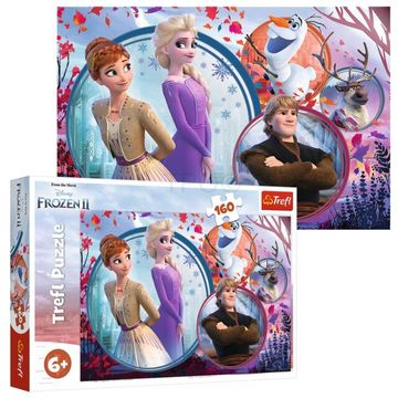 Trefl: Disney Hercegnők, Hercegnő gyűjtemény társasjáték + ajándék 160 darabos Jégvarázs puzzle - . kép
