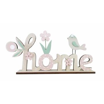Fa home felirat dekoráció