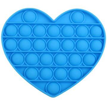 Pop It Now! Push Pop Bubble Szív stresszoldó játék - kék