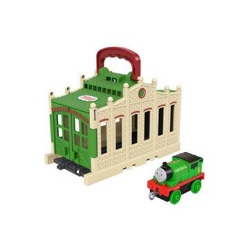 Locomotiva Thomas: Mini-set de joacă Connect and Go Percy