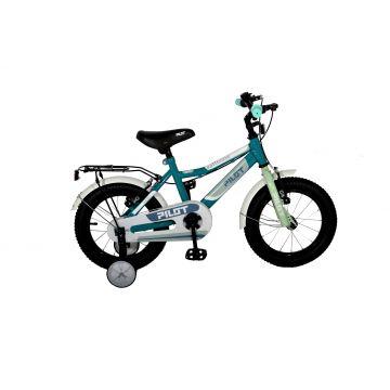 Pilot: Bicicletă pentru copii - mărime 16, albastru turcoaz