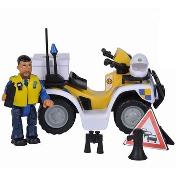 Sam, a tűzoltó: Rendőrségi quad Malcolm figurával
