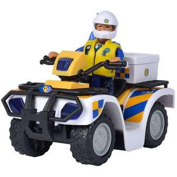 Sam, a tűzoltó: Rendőrségi quad Malcolm figurával - . kép