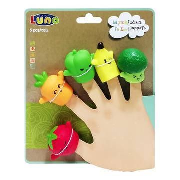 Luna: Ujjbáb szett 5 darabos - zöldség-gyümölcs