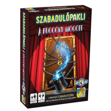 Pachet de cărți de evadare: În spatele perdelei - joc de cărți în lb. maghiară