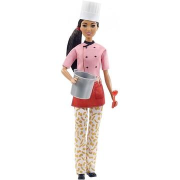 Barbie Careers dolls: Barbie bucătar - cu păr brunet închis