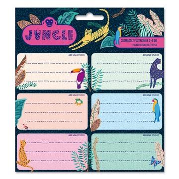 Ars Una: Jungle - etichete caiete 18 buc.