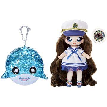 Na! Na! Na! Surprise: Sailor Blu 2 az 1-ben Sparkly meglepetés divatbaba, pénztárcával - 1. széria