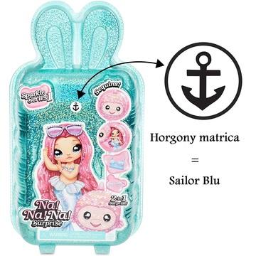 Na! Na! Na! Surprise: Sailor Blu 2 az 1-ben Sparkly meglepetés divatbaba, pénztárcával - 1. széria - . kép
