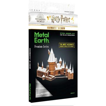 Harry Potter: Metal Earth ICONX - Roxfort a hóban acél makettező szett