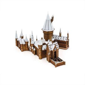 Harry Potter: Metal Earth ICONX - Roxfort a hóban acél makettező szett - . kép