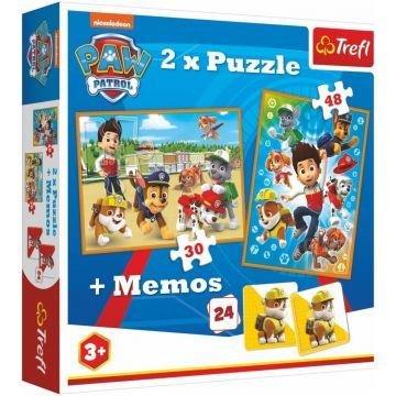 Trefl: Mancs Őrjárat, 2 az 1-ben puzzle és memória játék