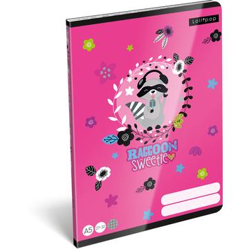Lollipop: Raccoon Sweetie Négyzetrácsos füzet - A5