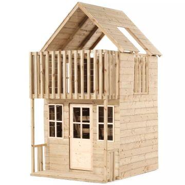 TP: Loft kétszintes fa játszóház (5 dobozos)