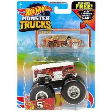 Hot Wheels Monster Trucks: 5 Alarm szett - piros - . kép