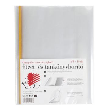 ICO: Süni öntapadós füzet és tankönyvborító 10 darab - A4