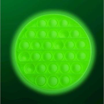 Foszforeszkálós Push Pop Bubble kör alakú stresszoldó - többféle - . kép
