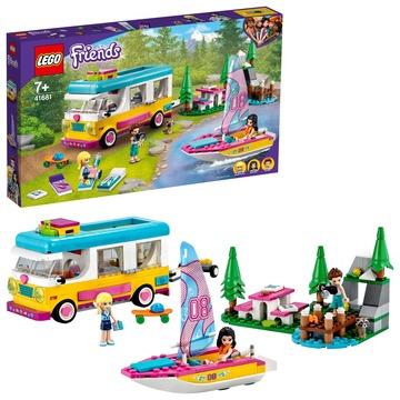 LEGO Friends: Furgonetă de camping și barcă cu pânze - 41681