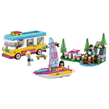 LEGO Friends: Furgonetă de camping și barcă cu pânze - 41681 - .foto