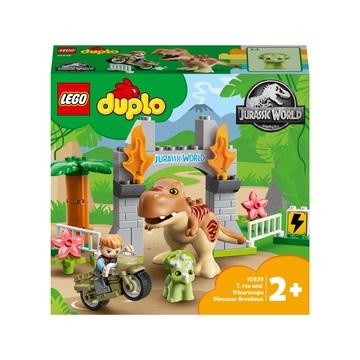 LEGO DUPLO Jurassic World: T. rex és Triceratops dinoszaurusz szökés 10939 - . kép