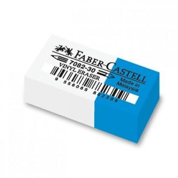 Faber-Castell: Radieră de vinil pentru creion și stilou, alb-albastru