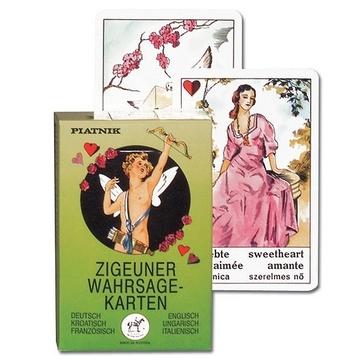 Piatnik: Cărți de ghicit țigănești - în lb. germană, croată, franceză, engleză, maghiară și italiană