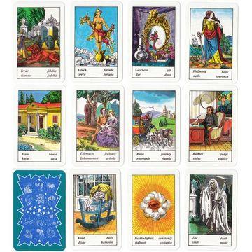 Piatnik: Cărți de ghicit țigănești - în lb. germană, croată, franceză, engleză, maghiară și italiană - .foto