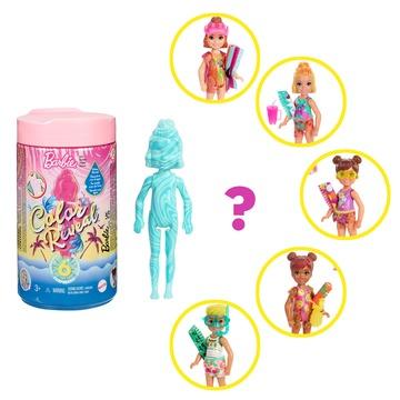 Barbie: Chelsea Color Reveal - Păpușă surpriză cu accesorii - seria Nisip și soare