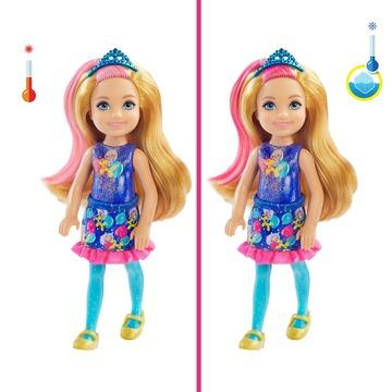 Barbie: Chelsea Color Reveal - Păpușă surpriză cu accesorii - seria Party - .foto