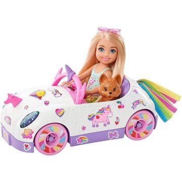 Barbie: Păpușă Chelsea cu mașină-unicorn