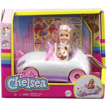 Barbie: Păpușă Chelsea cu mașină-unicorn - .foto