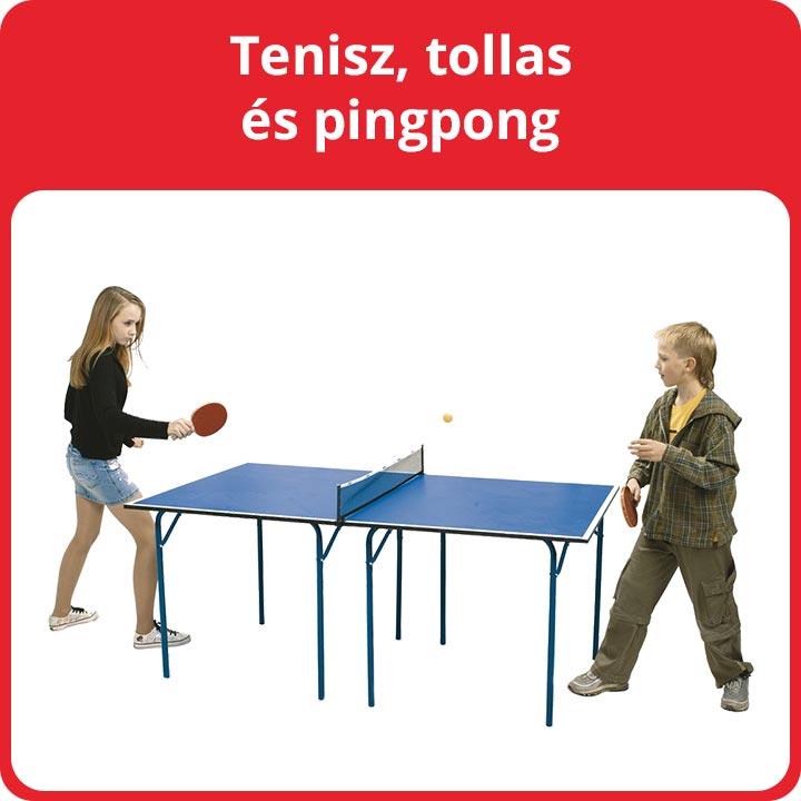 Tenisz, tollas és pingpong