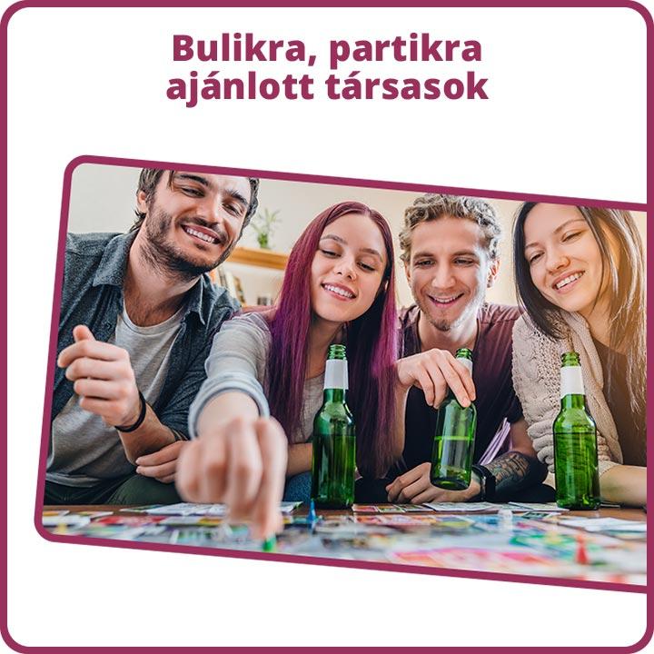 Bulikra, partikra ajánlott társasok