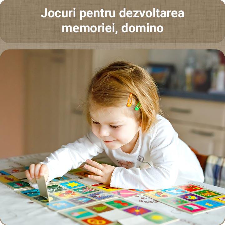 Jocuri de societate pentru dezvoltarea memoriei, domino